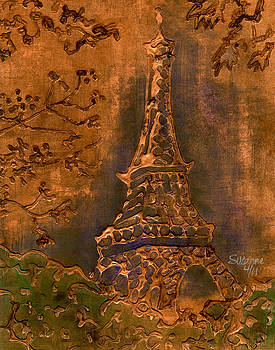 Eiffel Tower - Copper by Suzanne Blender