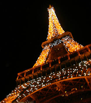 Eiffel Tower at night by Christine Burdine