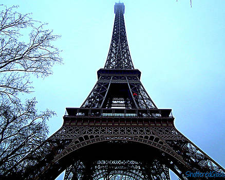 Eiffel Tower Blues by ShatteredGlass Photography