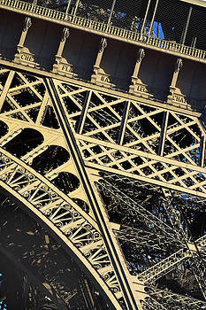 Eiffel Tower Detail by Christopher Brown