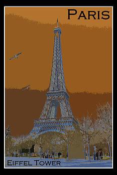David Pringle - Eiffel Tower Poster