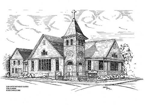 Elba United Methodist Chirch by Charles Sims