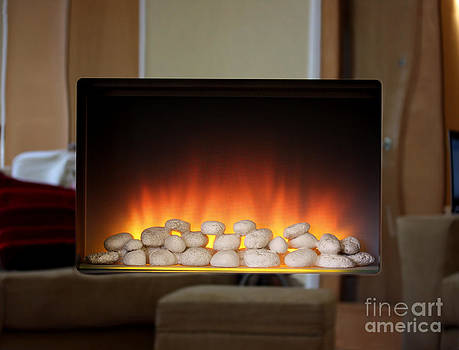 Simon Bratt Photography LRPS - Electric fire with mirror surround