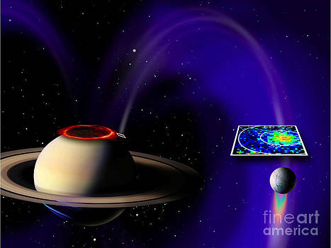 NASA/Science Source - Electrical Circuit Between Saturn