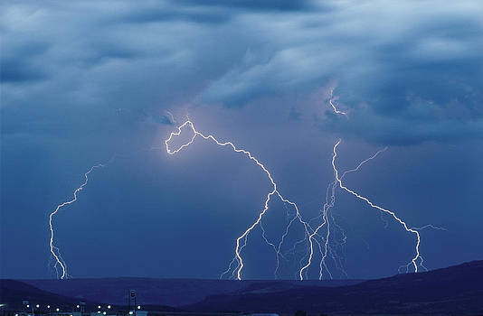 Electrical Storm - Raton - New Mexico by Phil Degginger