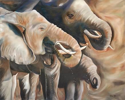 Elephants by Pamela Bell