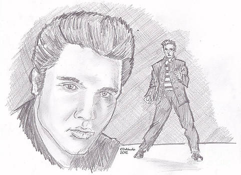 Chris  DelVecchio - Elvis Presley- young