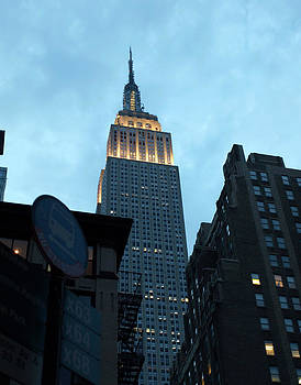 Empire State Lit Up at Dusk by Chris Ann Wiggins