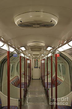 Empty Carriage London Underground by James Thomas