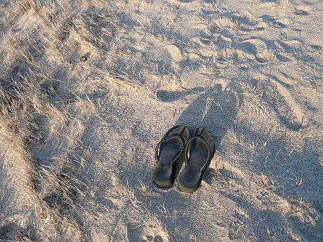Angela Hansen - Empty Flip Flops at Dusk