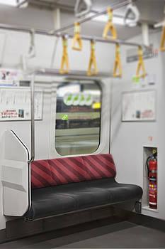 Empty Seat On Subway Train Tokyo Japan by Bryan Mullennix