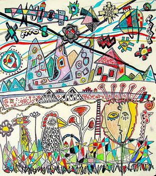 Empty Village Hidden In The Colors Of Spring by Branko Jovanovic
