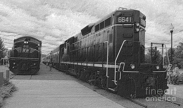 Engine's 82 and 6641 by Denise Jenks