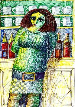 English barmaid II by Donovan OMalley