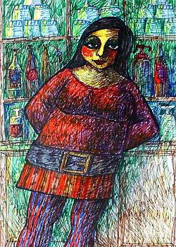 English barmaid III by Donovan OMalley