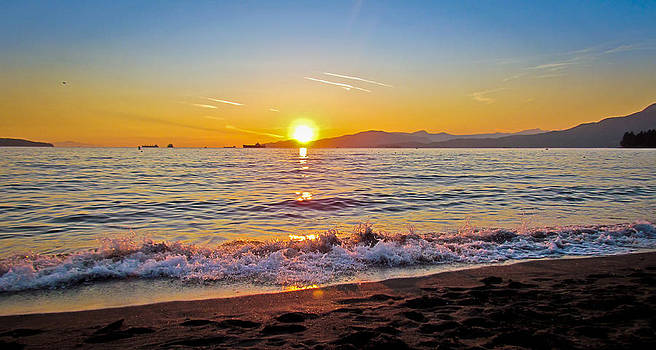 English Bay - Beach Sunset by Eva Kondzialkiewicz