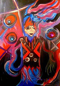 ENTANGLED - original abstract Illustration by Jonathan Kania