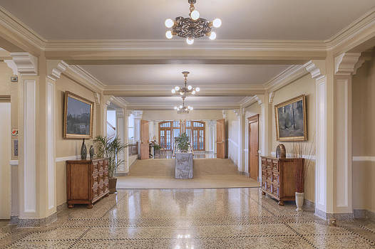 Entrance Hallway In Elegant Old by Douglas Orton