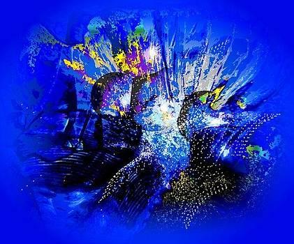 Esperando su alimento - blue by Sara  Diciero