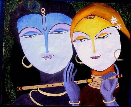 Eternal love of Radha-Krishna by Mamta Joshi