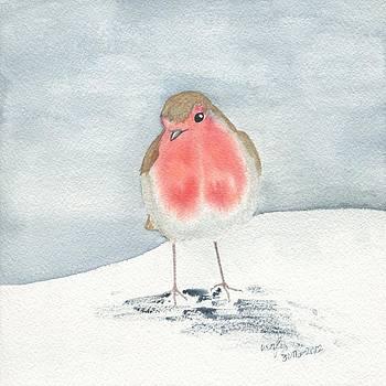 European robin by Wenfei Tong