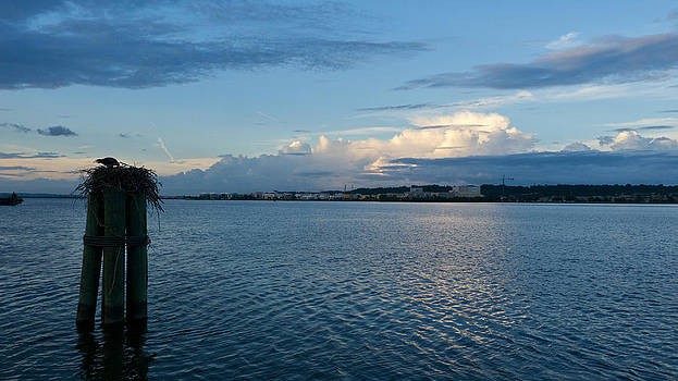 Evening clouds on the Potomac by Bob Lennox