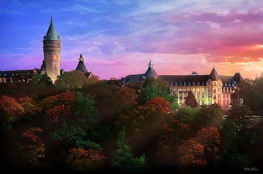 Evening in Luxembourg by Viktor Korostynski