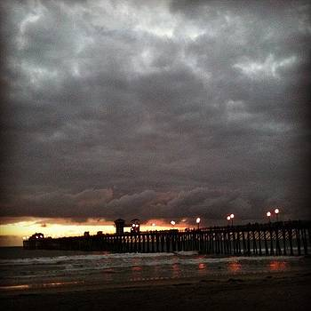 Evening Lights #pier #beach by Rita Spiegel