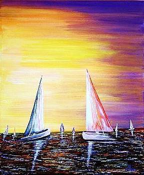 Evening sail by Bertha Hamilton