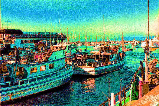 Excursion Boats At Monterey by Louis Nugent