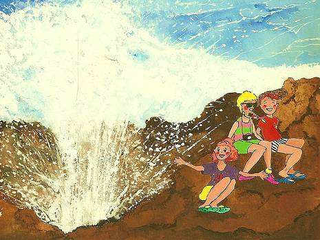 Exploring the Blowhole on Oahu by Maureen Nyhan