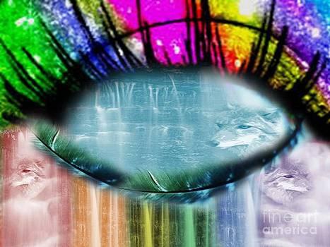 Eye Of Rainbow Wolves RAW by Catherine Herbert