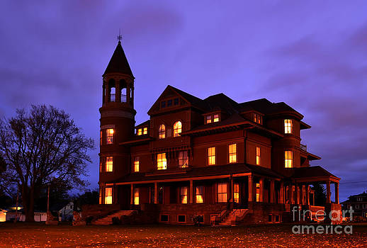 Fairlawn Mansion at Night by Whispering Feather Gallery