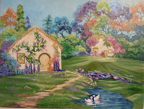 Fairy Cottages by Brenda  Bell