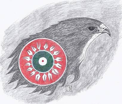 Falcon Spirit with Apache Design by Tony  Nelson