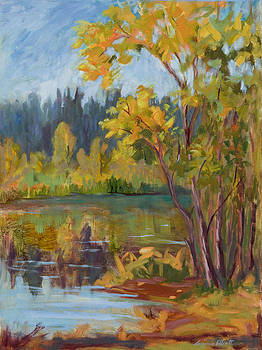 Fall at Quail Hollow Pond by Suzanne Elliott