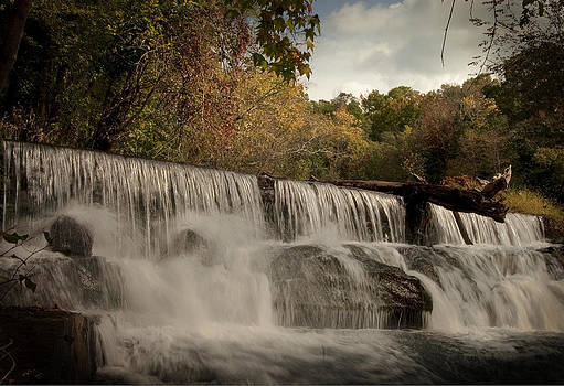 Fall color at the falls by Cindy Rubin