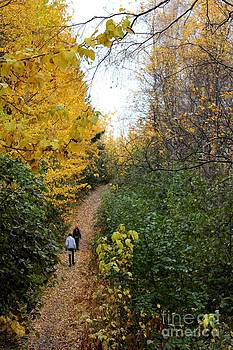 Fall Hike in Alaska by Theresa Willingham