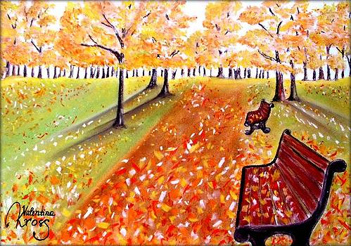 Fall in the Park by Valentina Kross