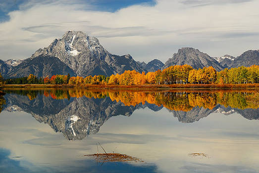 Fall Reflection at Oxbow Bend by Hegde Photos
