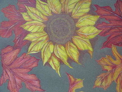 Fall Sunflowers by Fran Haas