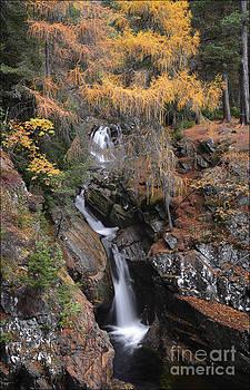 Falls of Bruar Scotland by George Hodlin