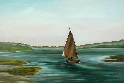 Falucca Down the Nile by Pamela Bell