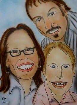 Family Caricature by Pete Maier