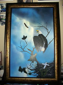 Family of Eagles by Al  Brown