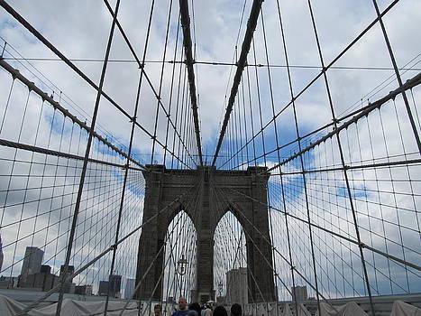 Famous Brooklyn Bridge  by Malcolm B Smith