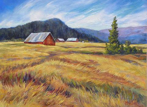 Peggy Wilson - Farm and Stubble Field