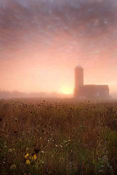 Farm Sunrise in Wisconsin by Christopher Dorsch