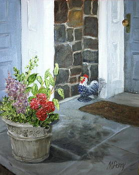Farmhouse Backdoor by Margie Perry