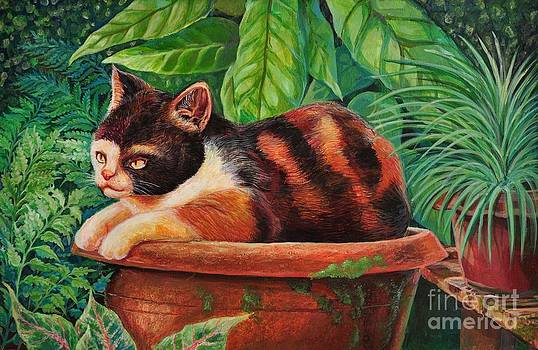 Fat cats in the garden. by Tawatchai Sanajai